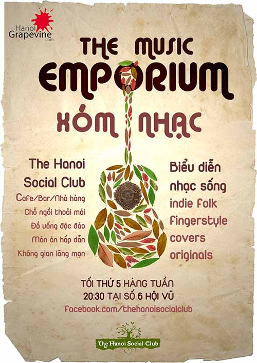 Hanoi Social Club debuts weekly music